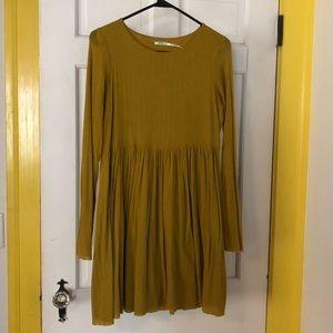 Mustard Yellow Babydoll Dress